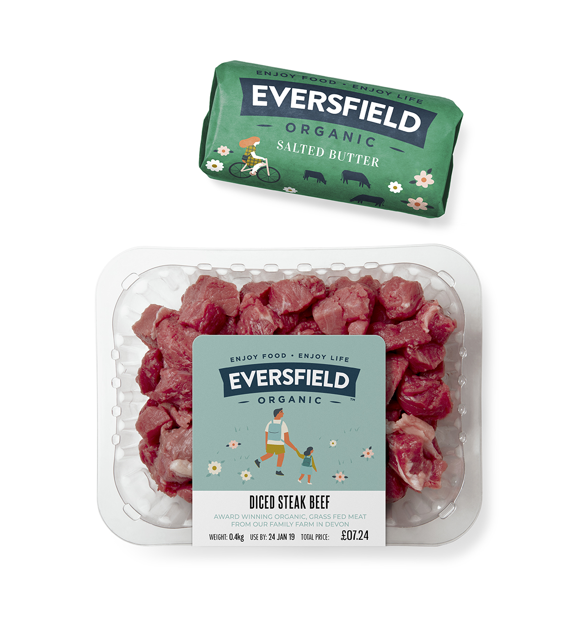 Eversfield Packs with butter